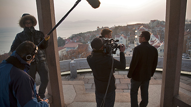 57 Films crew shooting Chef Exchange in Qingdao