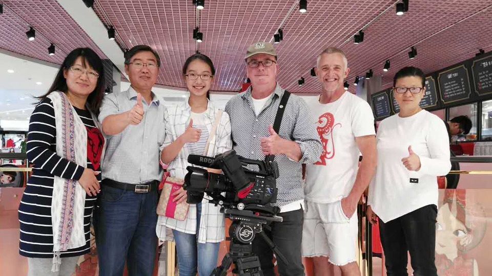 Shooting wraps on the Qingdao film
